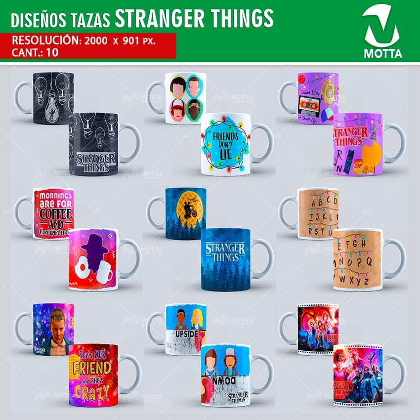 Dise os para estampar tazas stranger things for Disenos para estampar