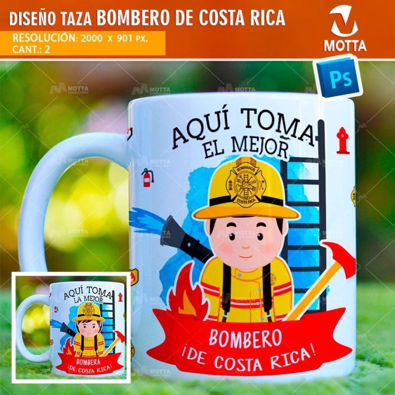 DISEÑOS PARA SUBLIMAR TAZAS AQUÍ TOMA BOMBERO COSTA RICA
