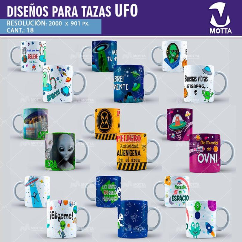 DISEÑOS PARA SUBLIMAR TAZAS DE OVNIS - UFO