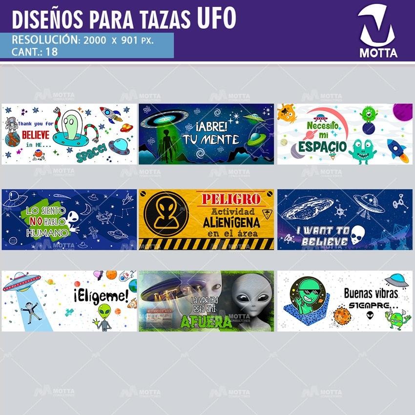 DISEÑOS PARA SUBLIMAR TAZAS UFO ALÍEN