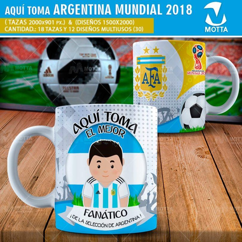 DISEÑOS AQUÍ TOMA HINCHA DE ARGENTINA FIFA 2018
