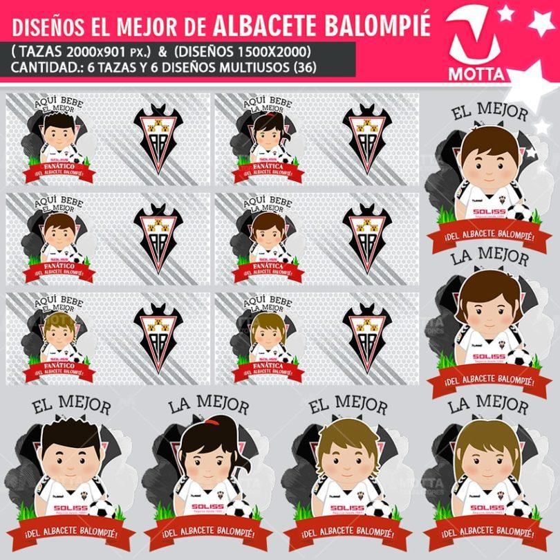 DISEÑOS MULTIUSOS MEJOR HINCHA DEL ALBACETE BALOMPIÉ