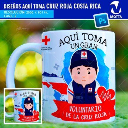 DISEÑOS PARA SUBLIMAR TAZAS AQUÍ TOMA CRUZ ROJA COSTA RICA