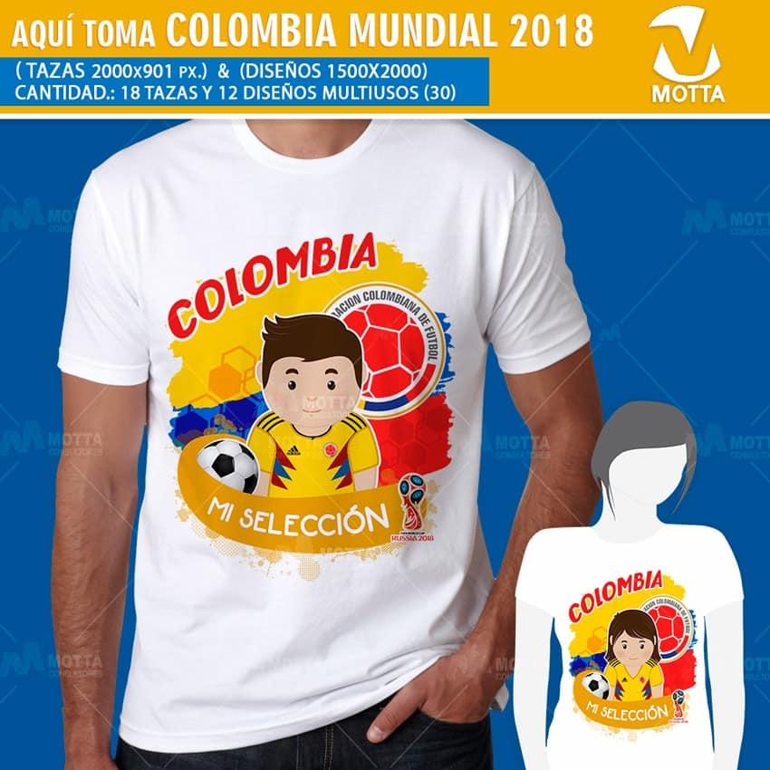 DISEÑOS AQUÍ TOMA HINCHA DE COLOMBIA FIFA 2018