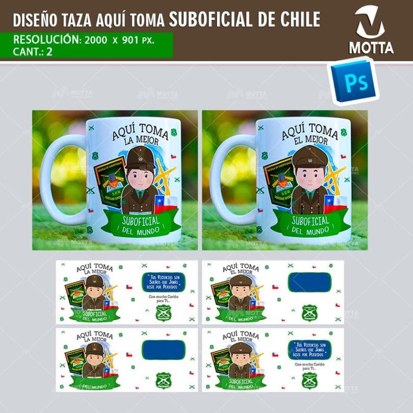AQUÍ TOMA MEJOR SUBOFICIAL DE CHILE | DISEÑOS PARA SUBLIMAR TAZAS