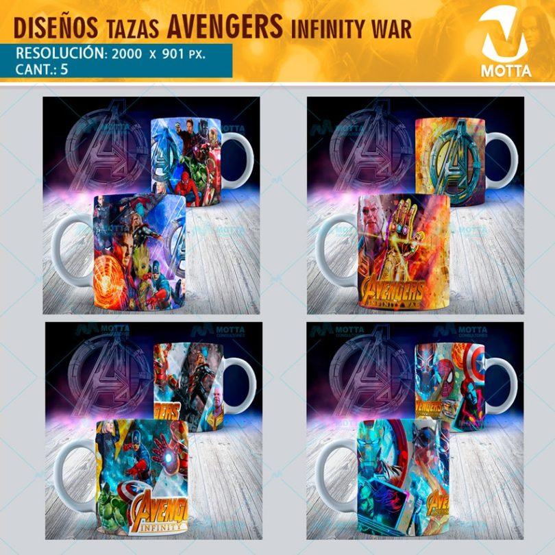 AVENGERS INFINTY WAR DISEÑOS PARA TAZAS #1X5Motta