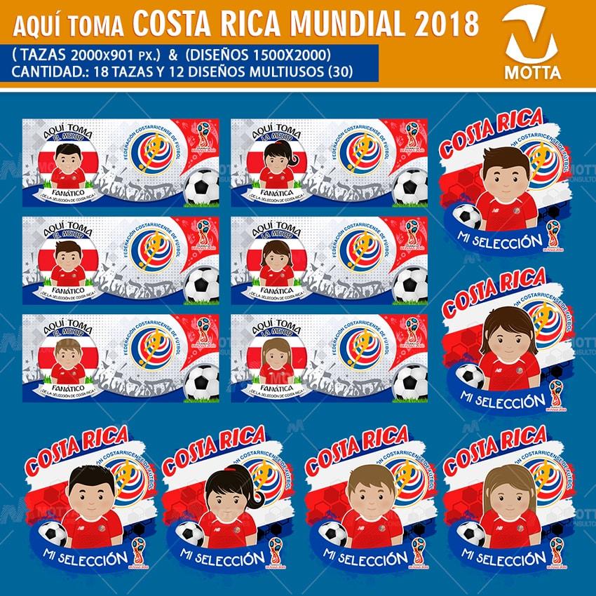 DISEÑOS AQUÍ TOMA HINCHA DE COSTA RICA FIFA 2018