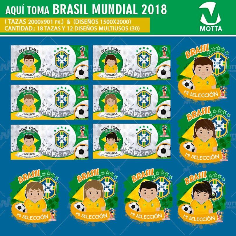 DISEÑOS AQUÍ TOMA HINCHA DE BRASIL FIFA 2018