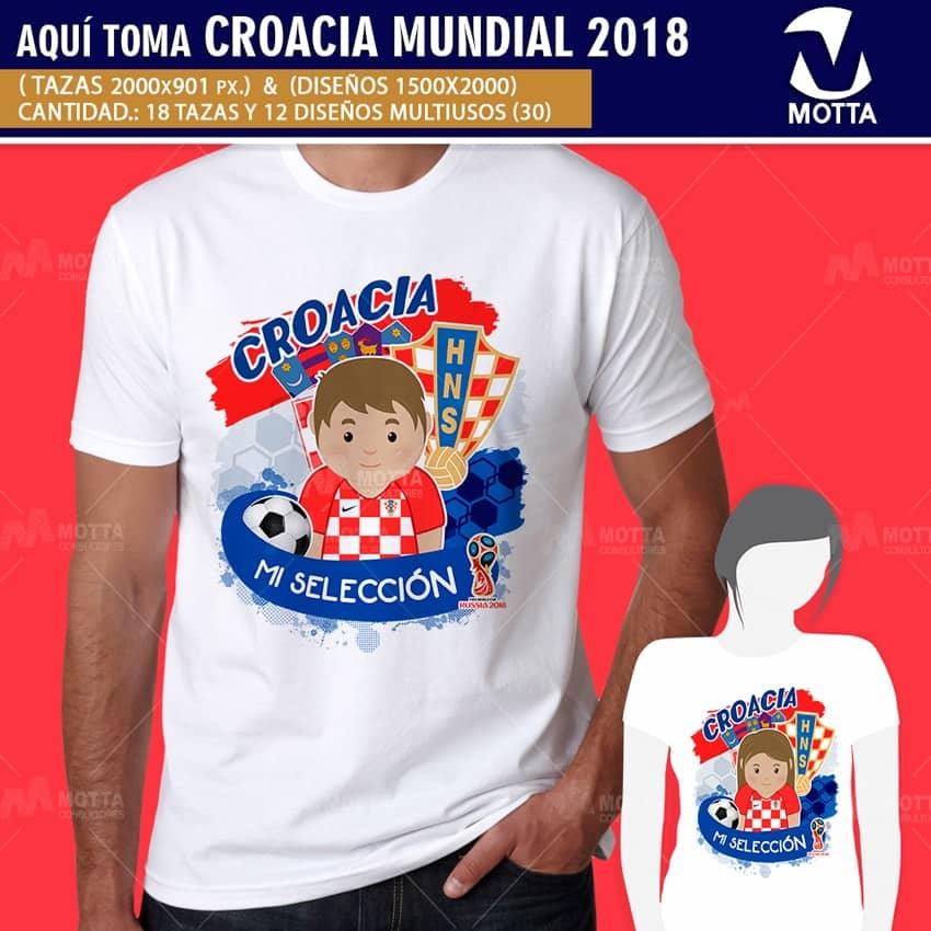 DISEÑOS AQUÍ TOMA MEJOR HINCHA DE CROACIA FIFA 2018