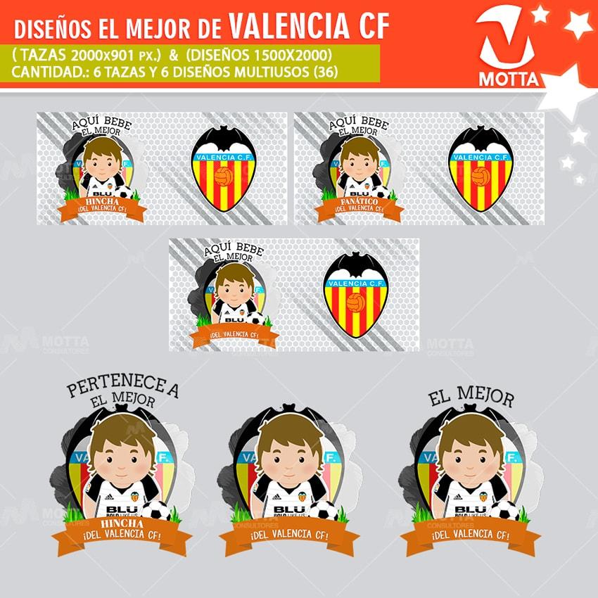 DISEÑOS AQUÍ TOMA MEJOR HINCHA DEL VALENCIA CF
