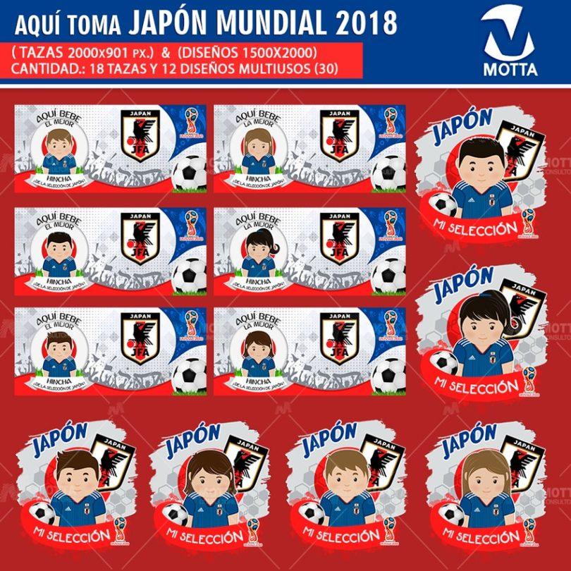 DISEÑOS AQUÍ TOMA HINCHA DE JAPÓN FIFA 2018