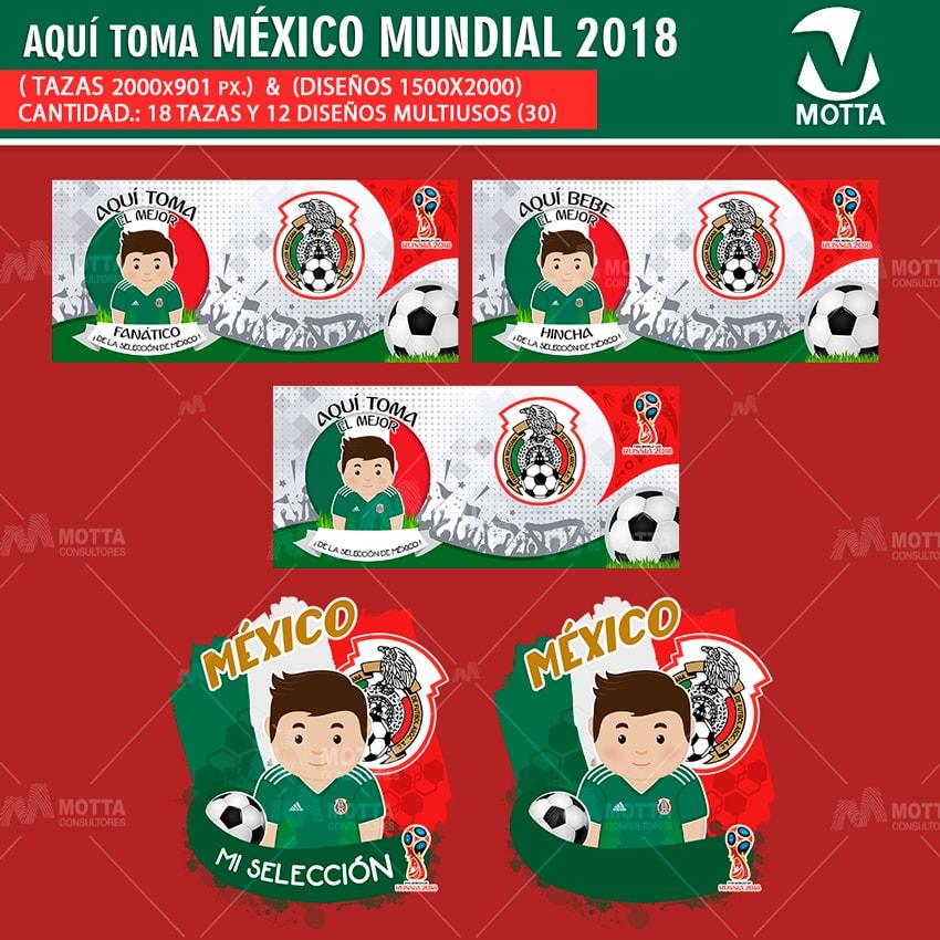 DISEÑOS AQUÍ TOMA HINCHA DE MÉXICO FIFA 2018
