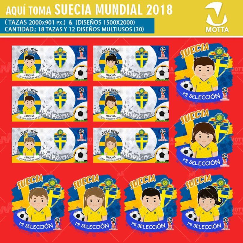 DISEÑOS AQUÍ TOMA HINCHA DE SUECIA FIFA 2018