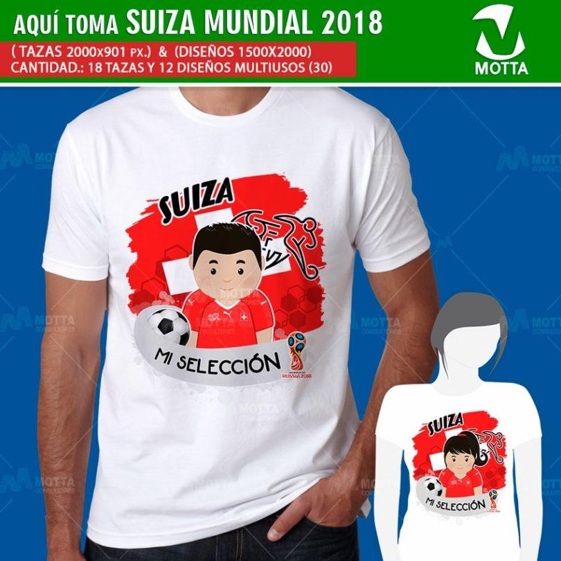 DISEÑOS AQUÍ TOMA HINCHA DE SUIZA FIFA 2018