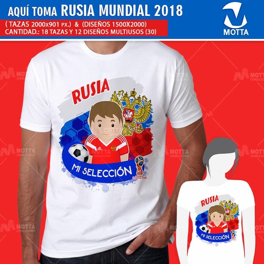 DISEÑOS AQUÍ BEBE HINCHA DE RUSIA FIFA 2018