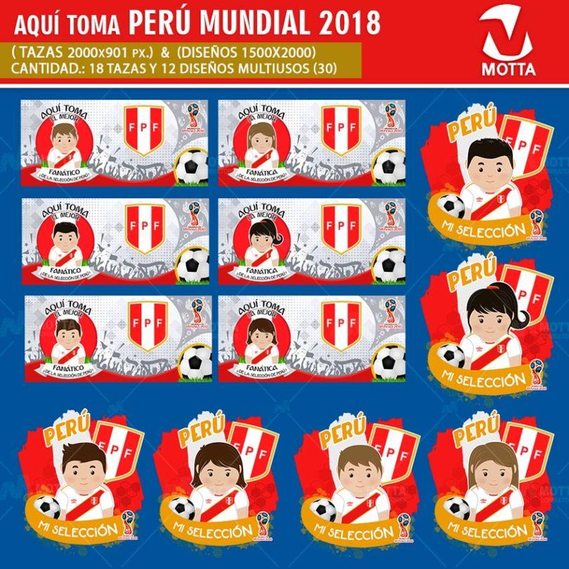 DISEÑOS AQUÍ TOMA HINCHA DE SELECCIÓN PERÚ FIFA 2018