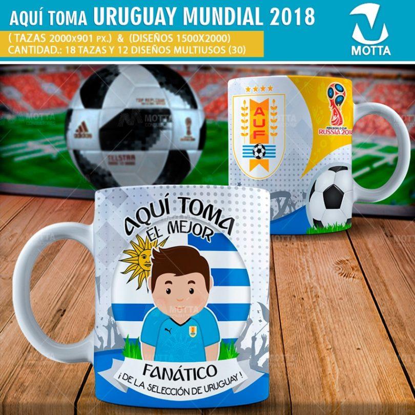 DISEÑOS AQUÍ TOMA HINCHA DE URUGUAY FIFA 2018