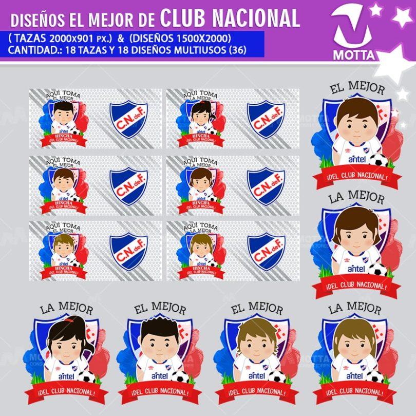 DISEÑOS AQUÍ TOMA HINCHA DE CLUB NACIONAL URUGUAY