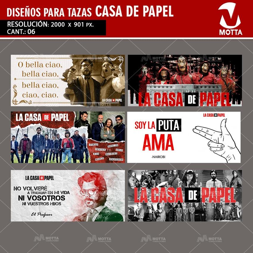 LA CASA DE PAPEL | DISEÑOS PARA SUBLIMAR TAZAS
