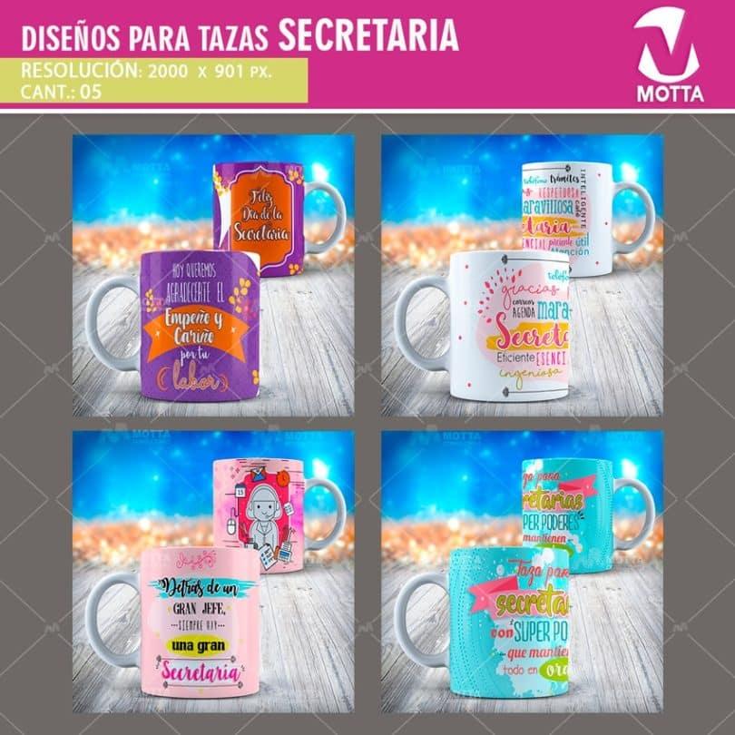 plantillas-diseños-tazas-mugs-dia-secretaria-asistente-administrativo-eficiente-organizada