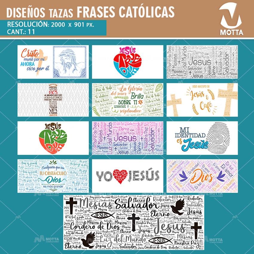 DISEÑOS CATÓLICOS PARA SUBLIMAR Y ESTAMPAR TAZAS