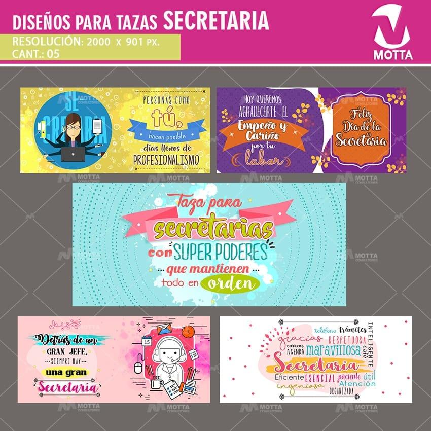 DISEÑOS PARA SUBLIMAR TAZAS DE SECRETARIA #1X5Motta