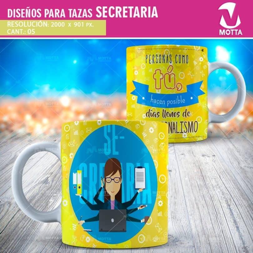 plantillas-diseños-tazas-mugs-secretaria-asistente-ejecutiva-recepcionista-administrativa