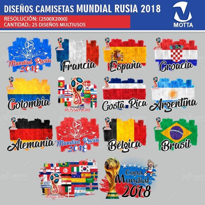 DISEÑOS DE CAMISA MUNDIAL FIFA RUSIA 2018