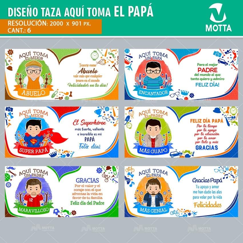 AQUÍ TOMA EL PAPÁ |DISEÑOS PARA SUBLIMAR TAZAS