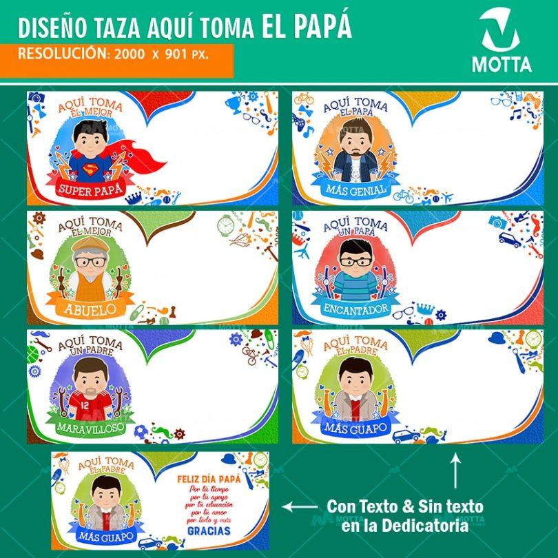 AQUÍ TOMA EL PAPÁ DISEÑOS PARA SUBLIMAR TAZAS