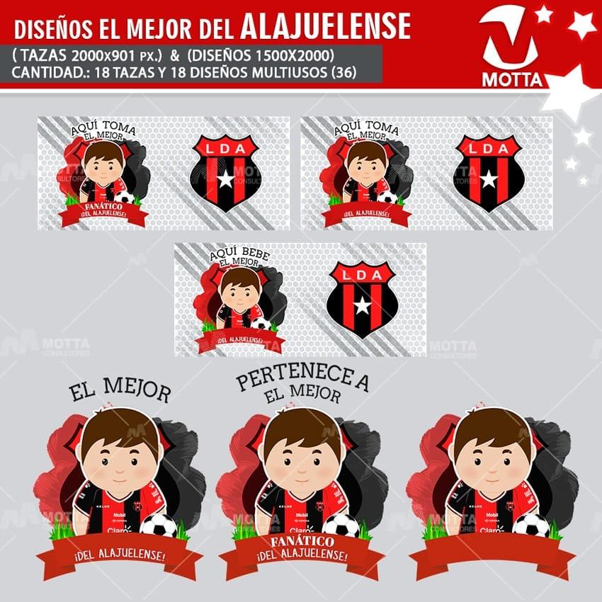DISEÑOS AQUÍ TOMA FANÁTICO DEL ALAJUELENSE COSTA RICA