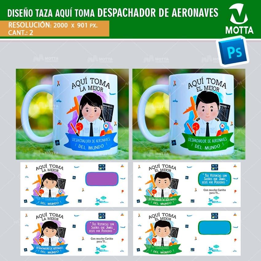 DISEÑOS AQUÍ TOMA DESPACHADOR DE AERONAVES | sublimación