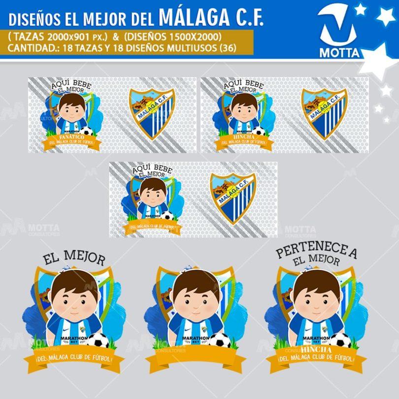 DISEÑOS AQUÍ TOMA MEJOR HINCHA DEL MÁLAGA CLUB FÚTBOL