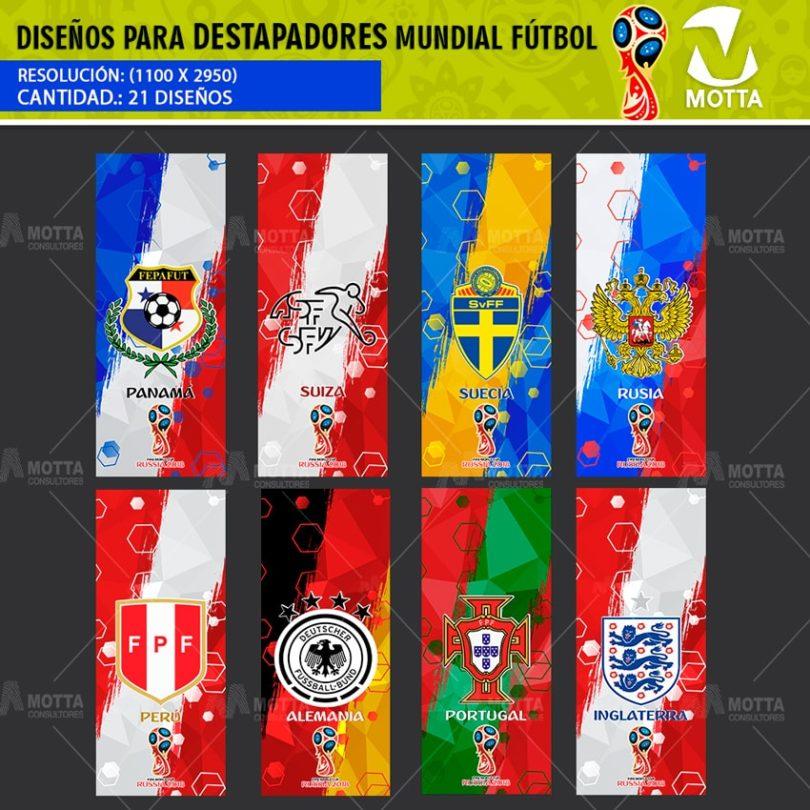 DISEÑOS MUNDIAL FIFA RUSIA 2018 PARA DESTAPADORES