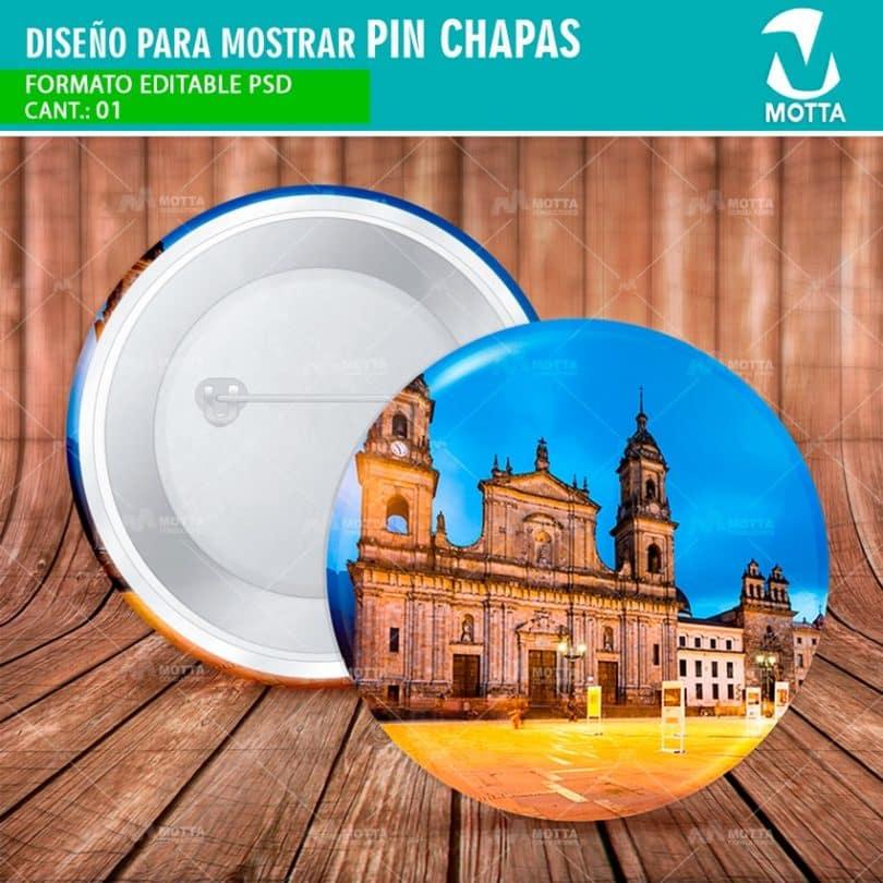 DISEÑO PARA MOSTRAR VISTA PREVIA DE PIN CHAPA