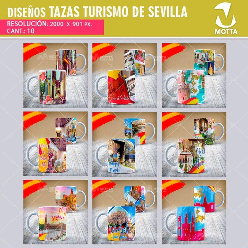 DISEÑOS PARA SUBLIMAR TAZAS TURISMO DE SEVILLA