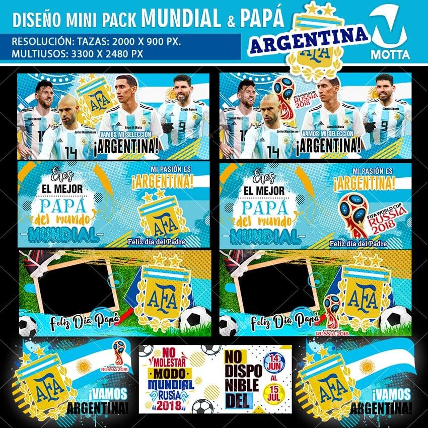 DISEÑOS TAZAS Y CAMISETAS ARGENTINA PARA DÍA DEL PADRE Y FIFA 2018