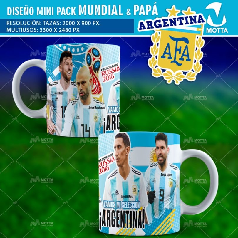 Diseños-plantillas-templates-mug-tazas-mug-camiseta-polera-selección-argentina-mundial-rusia-messi-javier-mascherano