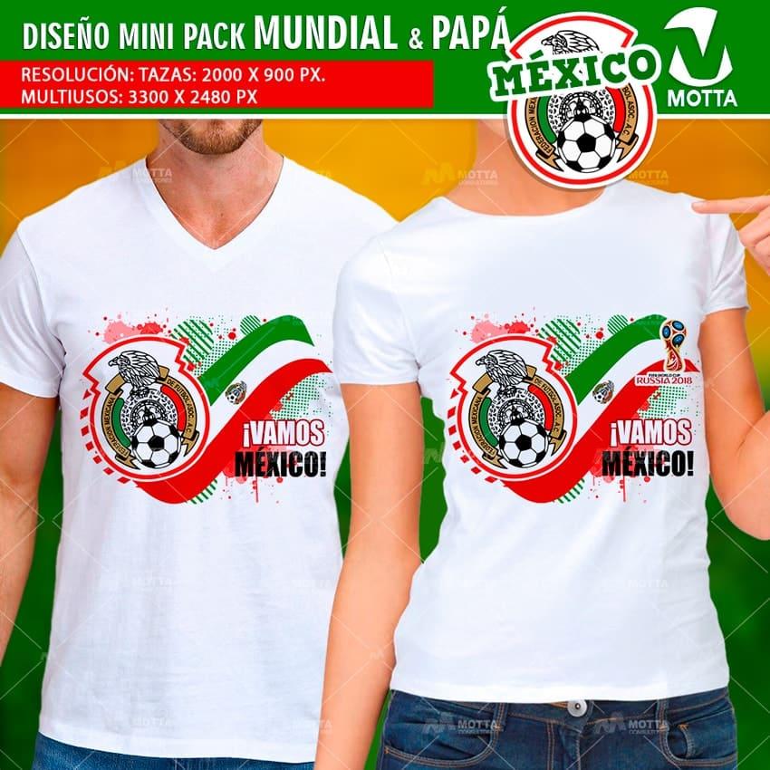 DISEÑOS TAZAS Y CAMISETAS MÉXICO PARA DÍA DEL PADRE Y FIFA 2018
