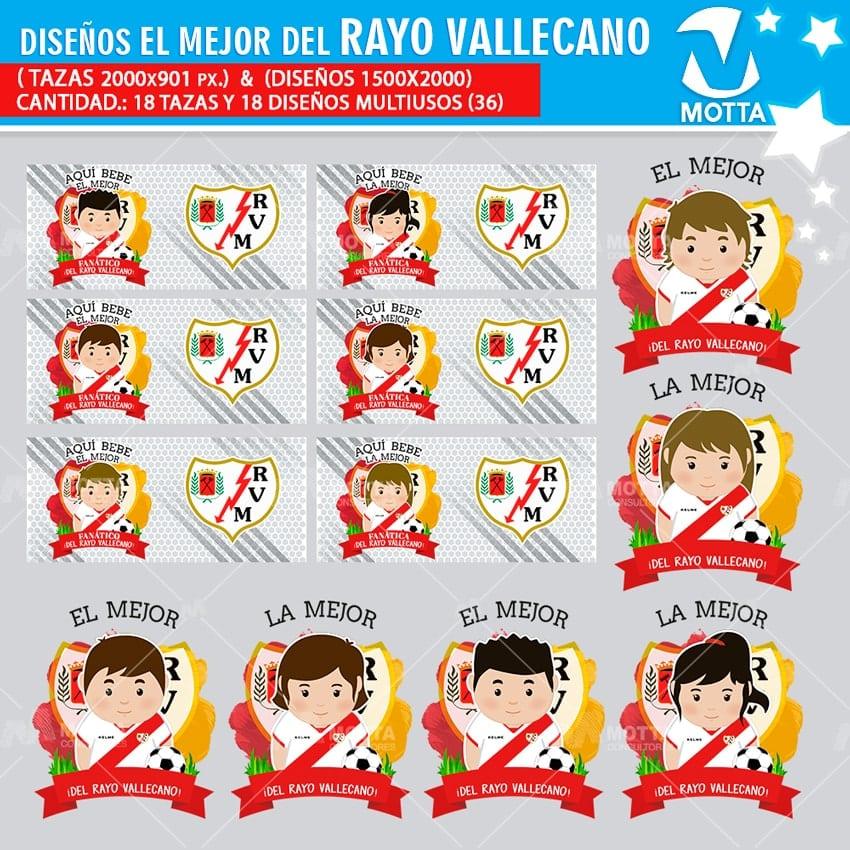 DISEÑOS AQUÍ TOMA MEJOR FANÁTICO DEL RAYO VALLECANO DE MADRID