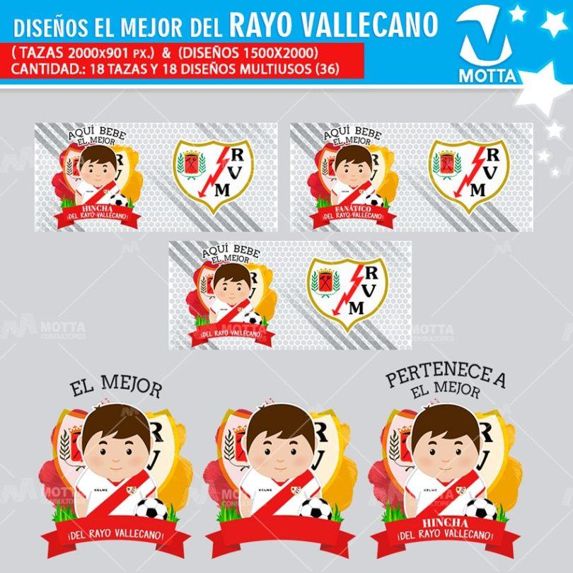 plantilla-diseño-design-tazas-mugs-personalizados-aqui-toma-bebe-fanatica-rayo-vallecano-madrid-españa-futbol-club-deporte