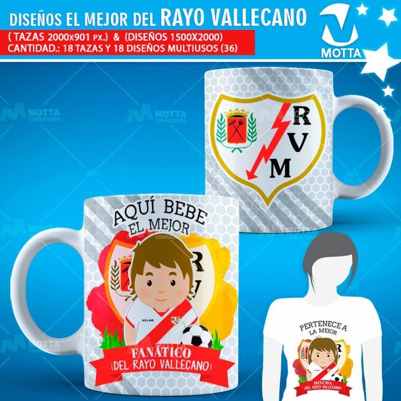 plantilla-diseño-design-tazas-mugs-personalizados-aqui-toma-bebe-fanatico-rayo-vallecano-madrid-españa-futbol-club
