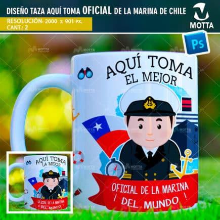 DISEÑOS PARA TAZAS AQUÍ TOMA OFICIAL DE LA MARINA DE CHILE