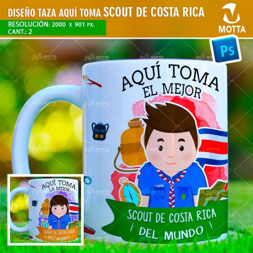 DISEÑOS PARA SUBLIMAR TAZAS AQUÍ TOMA SCOUT DE COSTA RICA