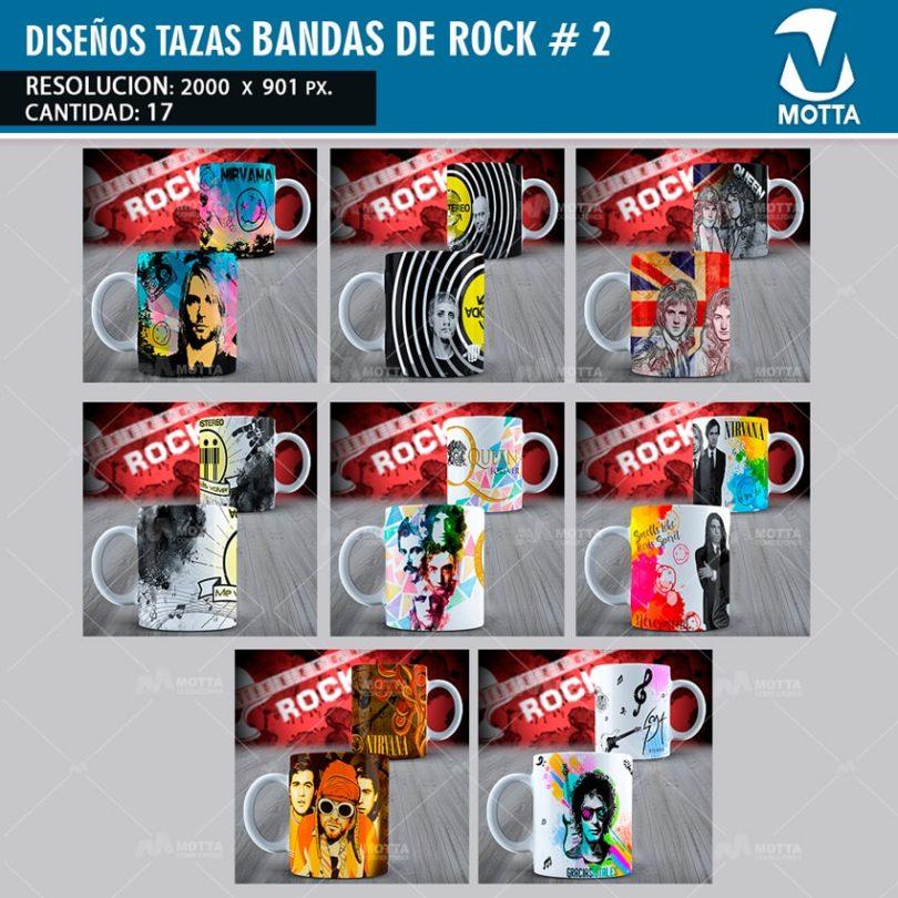 DISEÑOS PARA SUBLIMAR TAZAS BANDAS DE ROCK