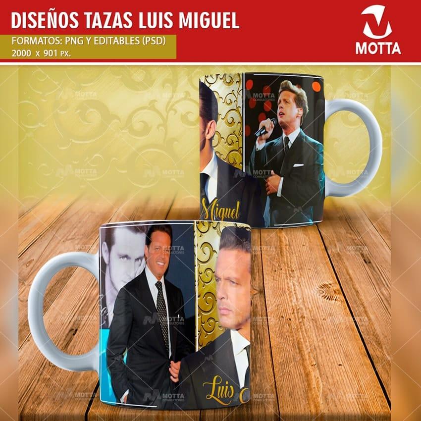 DISEÑOS PARA SUBLIMAR TAZAS CON LUIS MIGUEL
