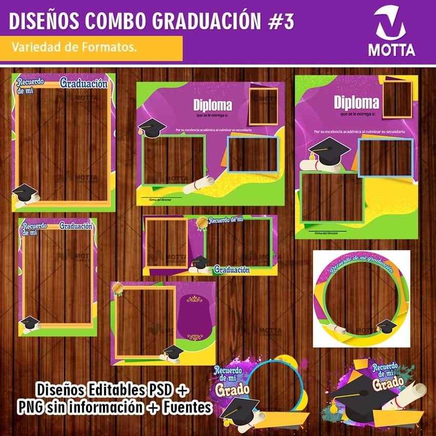MARCOS DE GRADO PARA RECUERDO DE GRADUACIÓN | COMBO 3