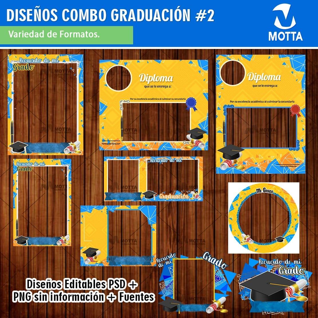 MARCOS DE GRADO PARA RECUERDO DE GRADUACIÓN | COMBO 2