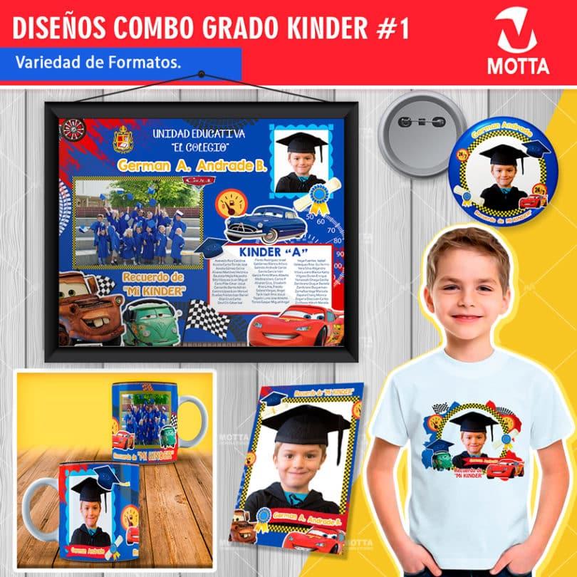 Diseños-plantillas-diploma-marco-foto-chapa-taza-recuerdo-graduacion-grado-kinder-cars