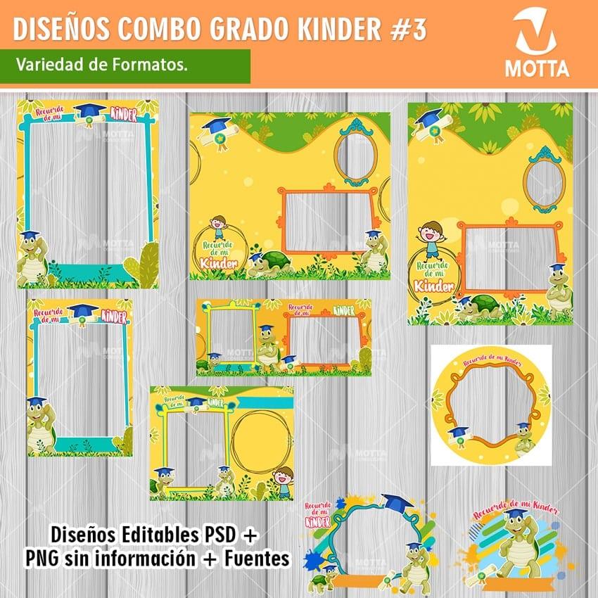DISEÑOS PARA RECUERDO DE EGRESADOS DE KINDER MOTIVO TORTUGA